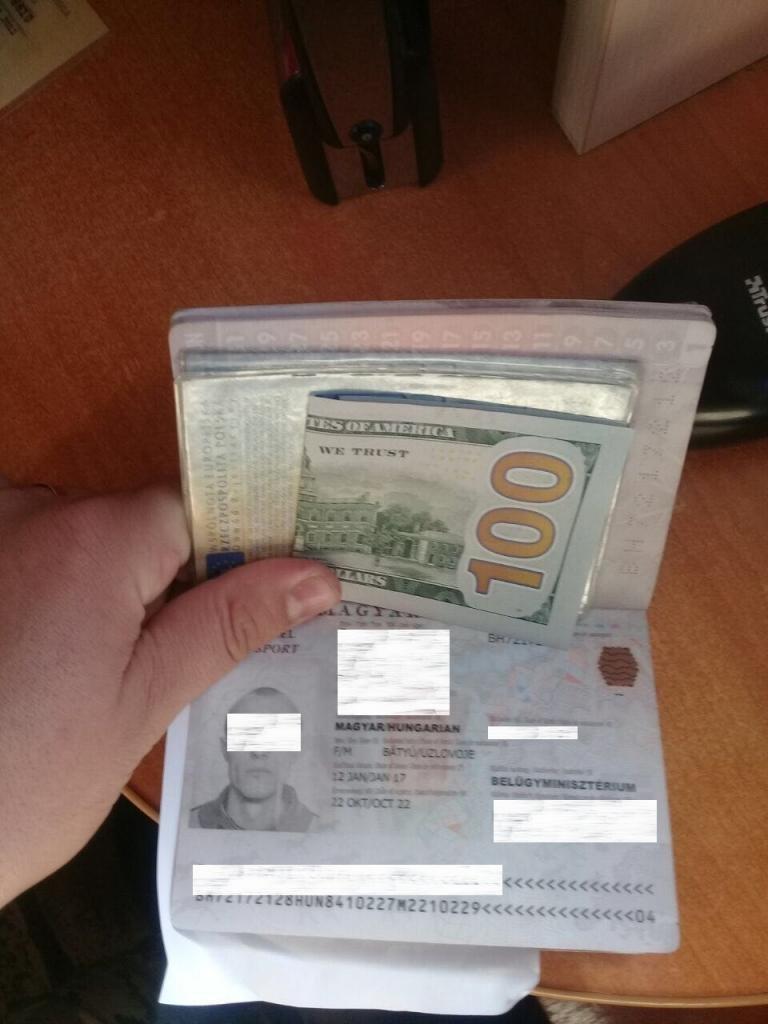 32-річний угорець дав прикордоннику 100 доларів, щоб могти спокійно перетнути кордон на Закарпатті: фото, фото-1