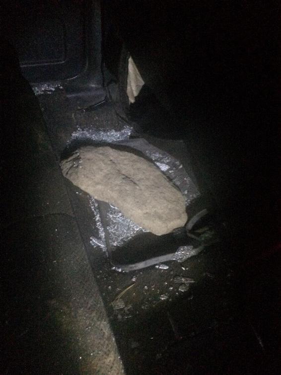 Біля Ужгорода агресивне подружжя розтрощило авто поліції: фото, фото-3