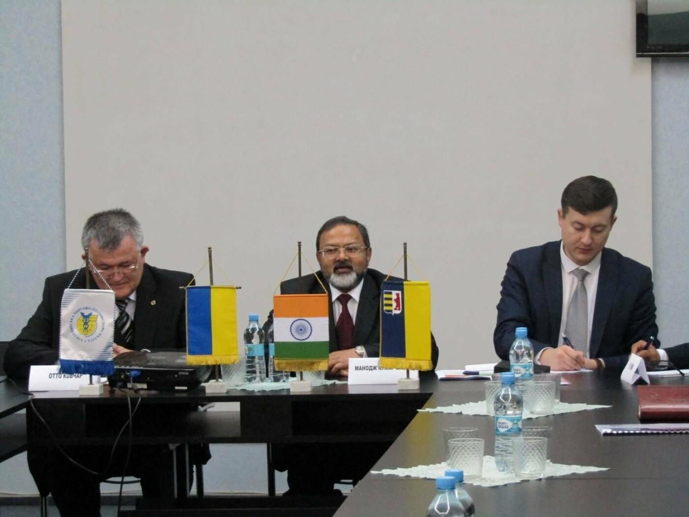 Візит індійського посла Бхарті в Ужгород: більше іноземних студентів та експорт на мільярди (ФОТО), фото-2