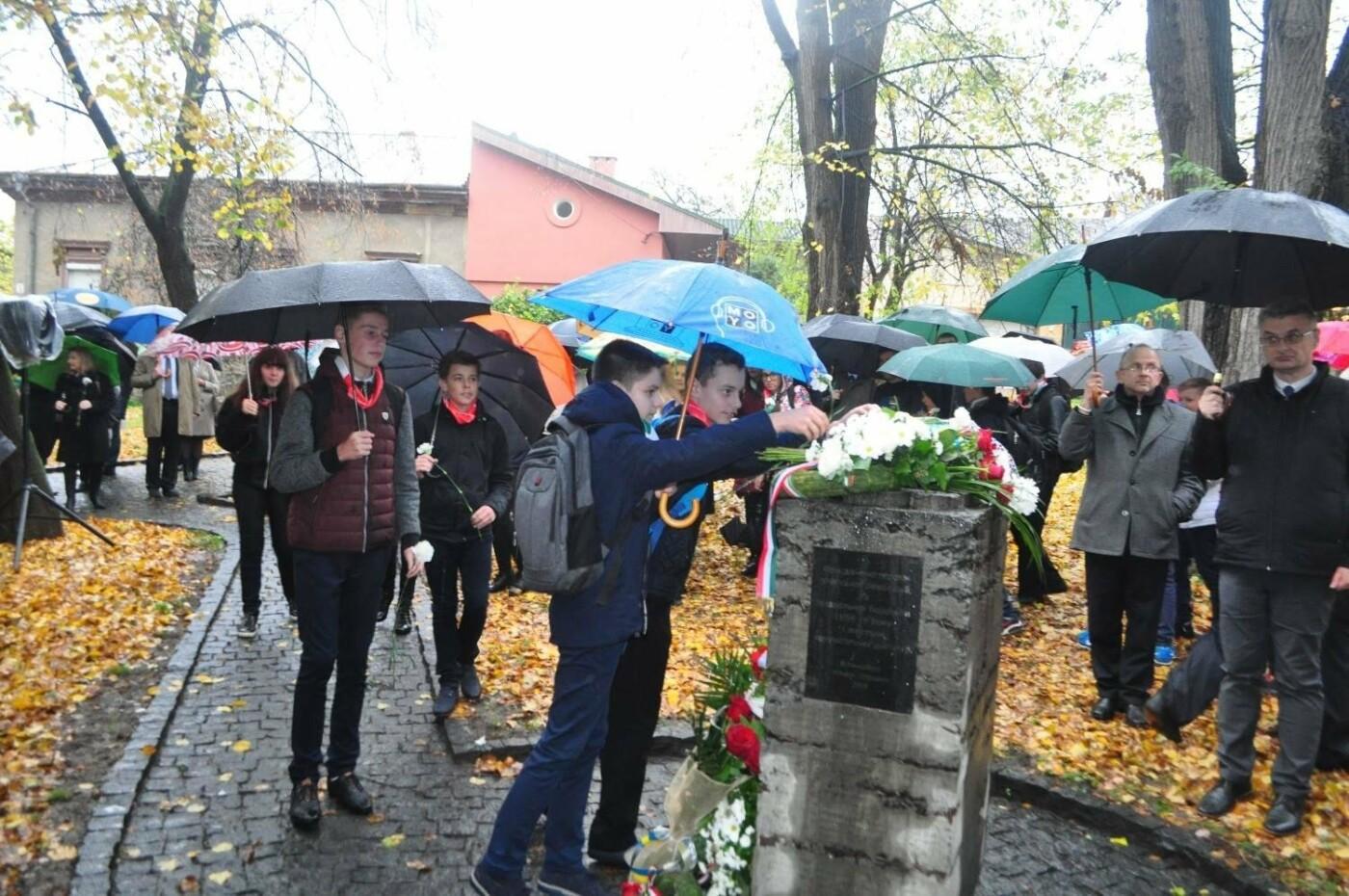 В Ужгороді вшанували 61-у річницю Угорської революції: фото, фото-2