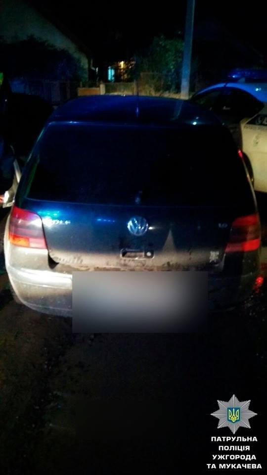 """Тікав на швидкості 160 км/год: в Ужгороді затримали п'яного водія """"Фольксвагена"""" з наркотиками у салоні (ФОТО), фото-1"""