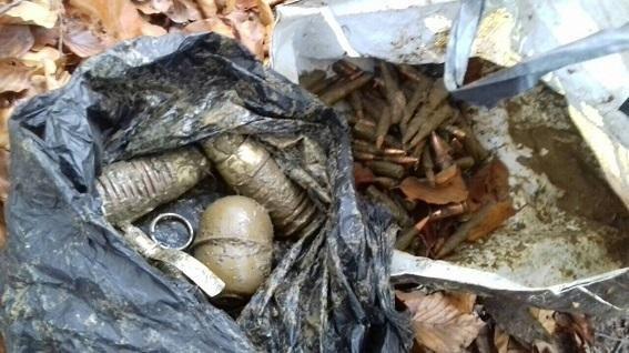 На Закарпатті добросовісний чоловік здав у поліцію арсенал боєприпасів, який знайшов у лісі: фото, фото-1