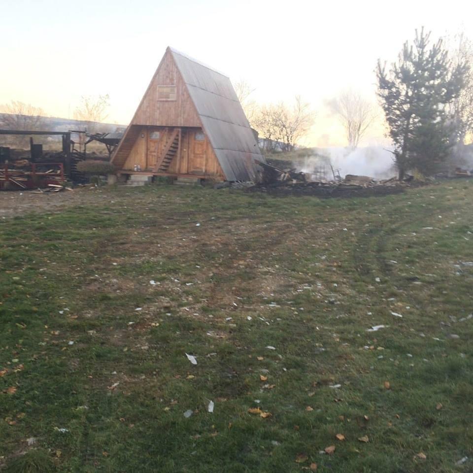 Масштабна пожежа на базі відпочинку на Тячівщині: 2 години ліквідації та 4 зруйнованих котеджі (ФОТО), фото-5