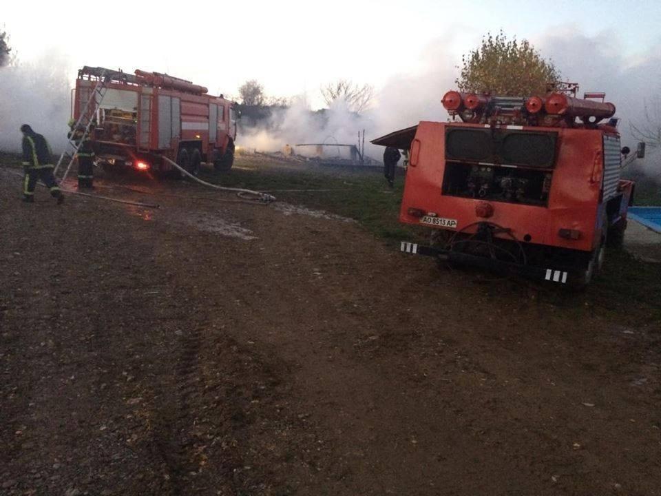 Масштабна пожежа на базі відпочинку на Тячівщині: 2 години ліквідації та 4 зруйнованих котеджі (ФОТО), фото-3