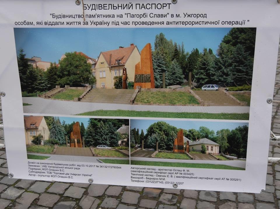 Монумент Героям АТО та капремонт за 1 мільйон гривень: в Ужгороді завершують роботи на Пагорбі Слави (фото), фото-2