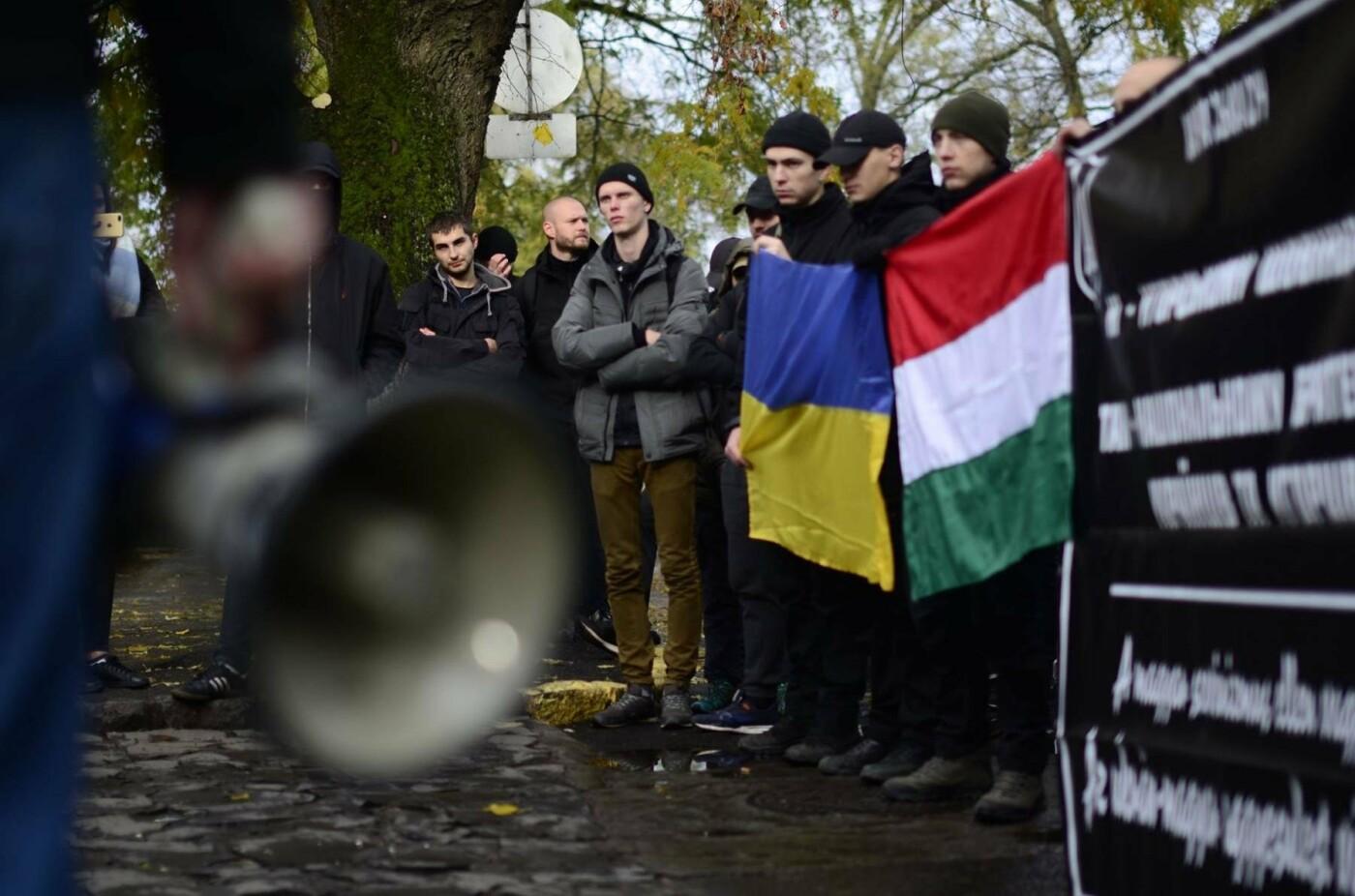 """В Ужгороді перед консульством Угорщини націоналісти """"Карпатської Січі"""" провели акцію, запаливши """"фаєри"""": фото, фото-10"""