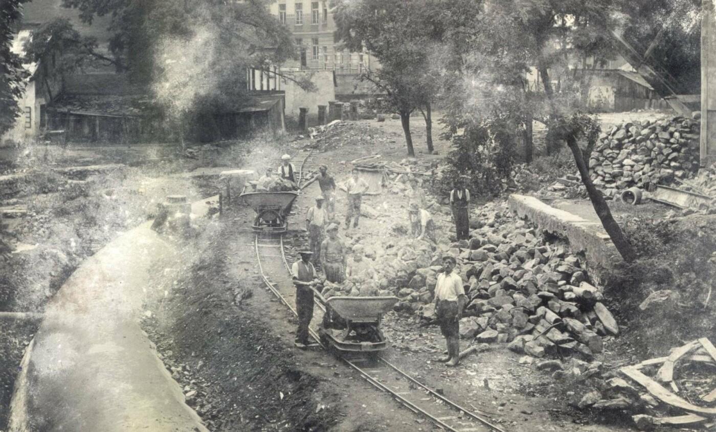 Як у 1936-у році в Ужгороді засипали Малий Уж: фото, фото-2