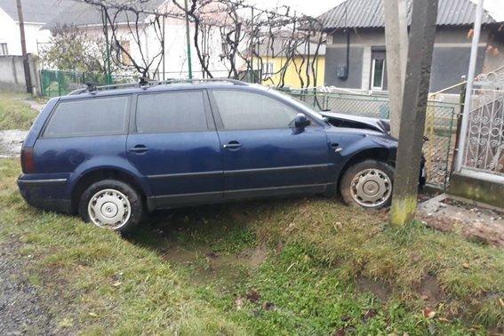 3-я аварія за добу: на Ужгородщині п'яний водій з'їхав у кювет (ФОТО), фото-1