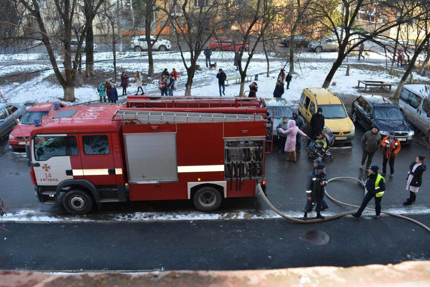 Через пожежу у багатоповерхівці на Годинки в Ужгороді евакуювали 20 чоловік, згоріли 2 кімнати (ФОТО, ВІДЕО, УСІ ПОДРОБИЦІ), фото-1