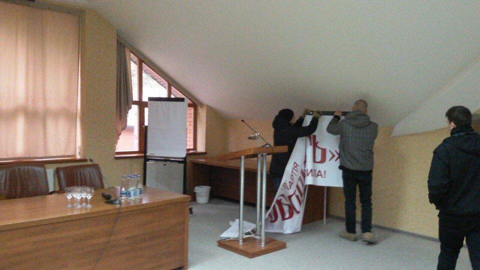 В Ужгороді націоналісти зірвали зібрання проросійських активістів: фото, відео, фото-2
