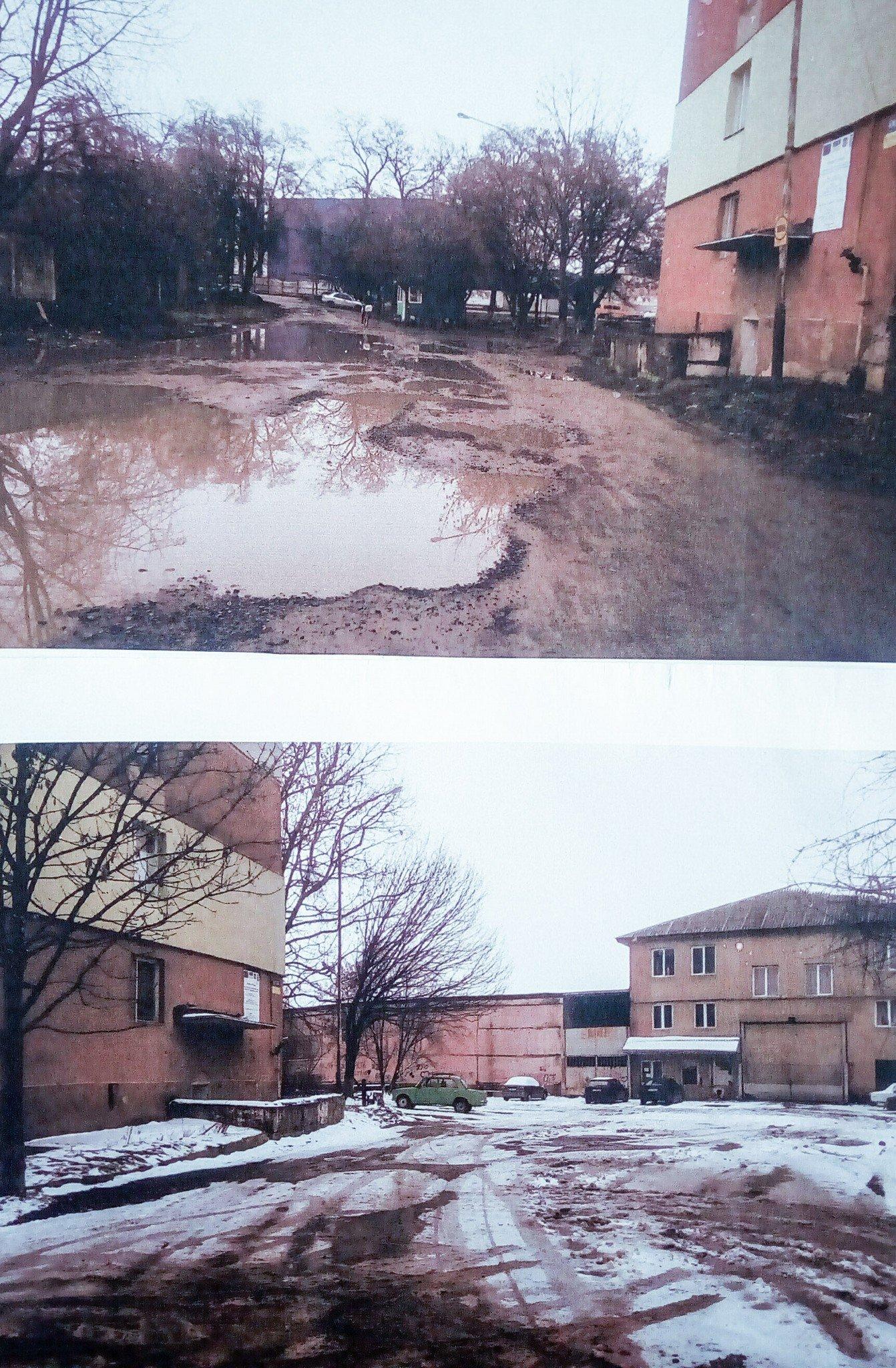 Набридло: мешканці вулиці Баб'яка в Ужгороді прийшли в мерію з вимогою відремонтувати дорогу та тротуар (ФОТО), фото-4