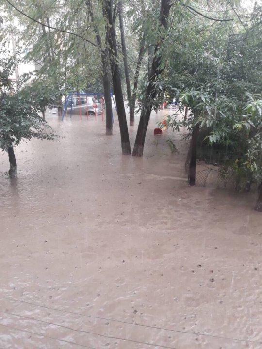 Потужна злива у Рахові: евакуйовано 7 людей, затоплено 50 будинків та 20 автомобілів (ФОТО, ВІДЕО), фото-3