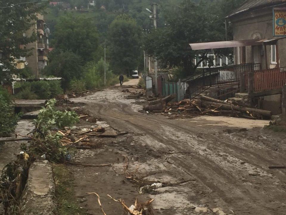 Потужна злива у Рахові: евакуйовано 7 людей, затоплено 50 будинків та 20 автомобілів (ФОТО, ВІДЕО), фото-11