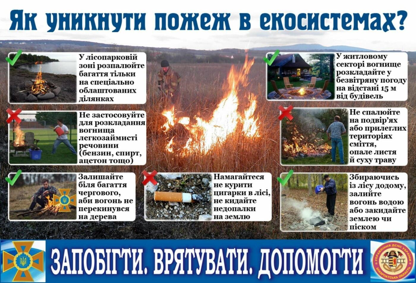 Закарпатців попереджають про вкрай високу пожежну небезпеку в області , фото-1