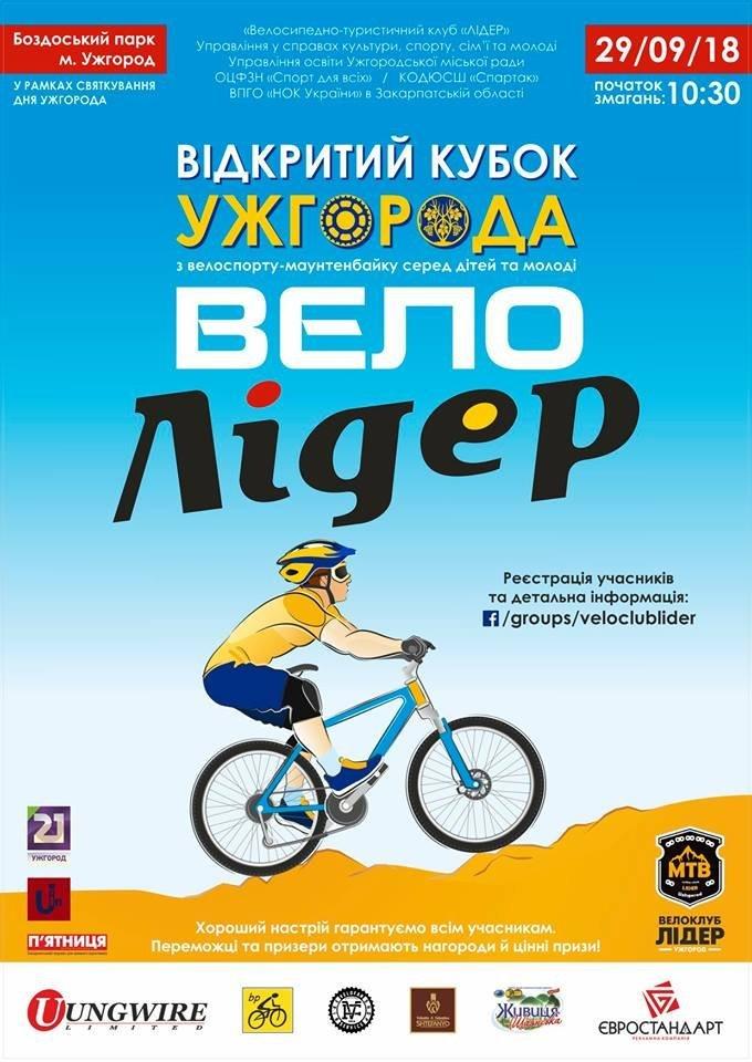 Відкритий кубок Ужгорода з велоспорту-маунтенбайку переноситься на 29 вересня (АНОНС), фото-1