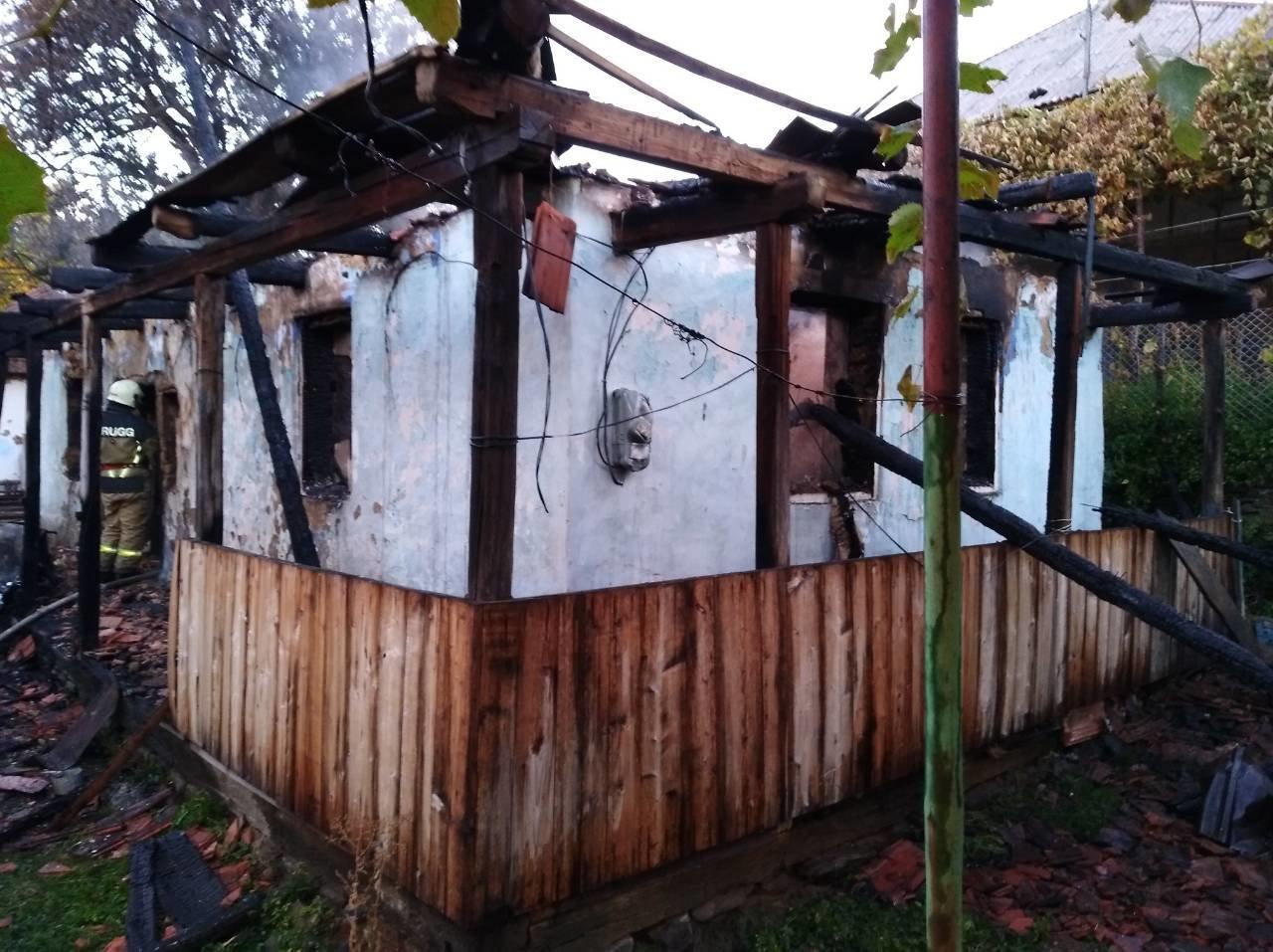 На Ужгородщині чоловік через необережність спалив будинок та ледь не згорів сам (ФОТО), фото-2