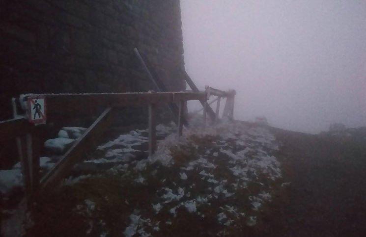 На горі Піп Іван Чорногірський пішов сніг, фото-1