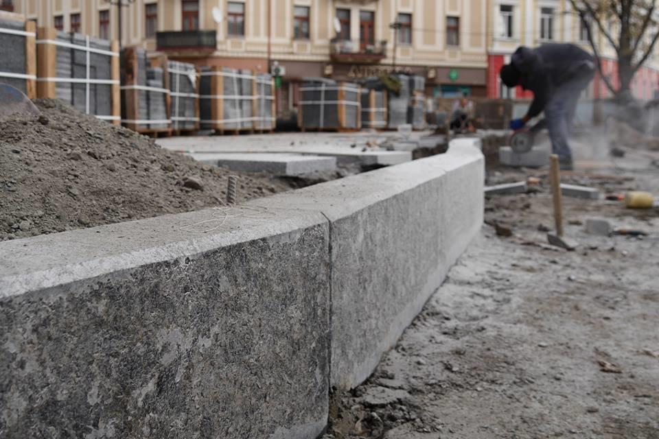 В Ужгороді площу Петефі продовжують викладати бруківкою (ФОТО), фото-7
