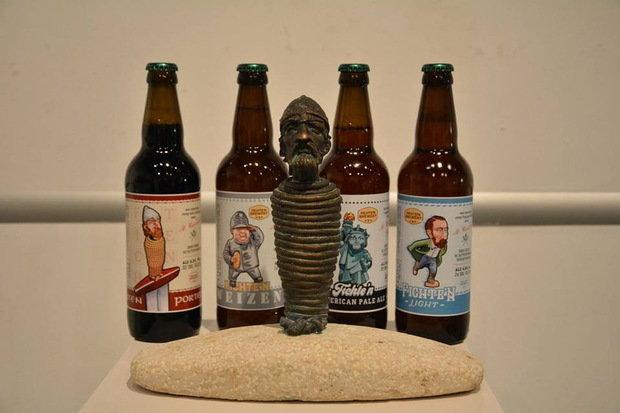 Відомий закарпатський пивовар створив унікальну лінійку пива, присвячену ужгородським міні-скультуркам (ФОТО), фото-1