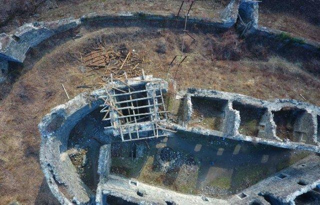 У мережі показали Невицький замок без даху на донжоні з висоти пташиного польоту (ВІДЕО), фото-2