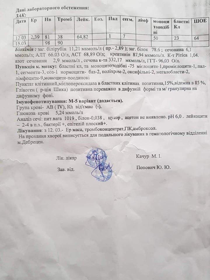 Молода мама з Мукачева потребує допомоги небайдужих у боротьбі з раком крові (ДОКУМЕНТ), фото-3