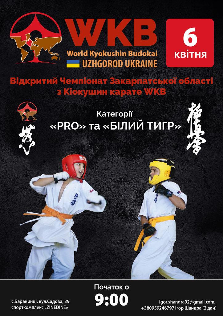 В Ужгороді відбудеться перший чемпіонат з Кіокушин карате WKB (АНОНС), фото-1
