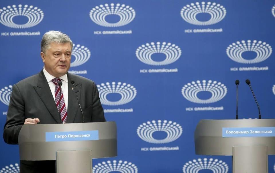 Президент Петро Порошенко запропонував Володимиру Зеленському подискутувати в ефірі телеканалів, фото-1
