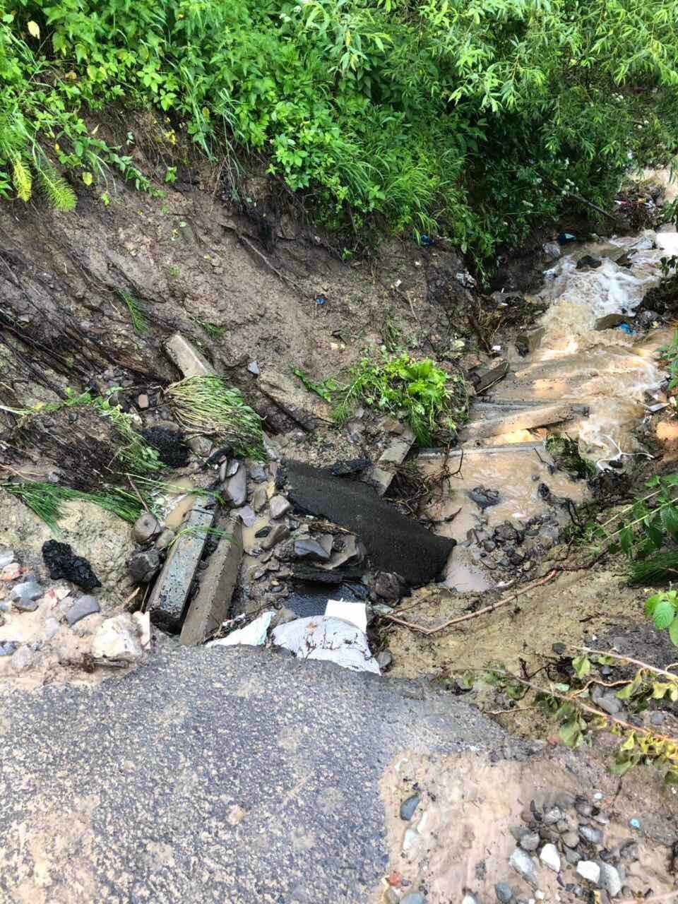 В гірських селах Закарпаття через потужні зливи підтопило дорогу та десятки дворогосподарств (ФОТО), фото-2