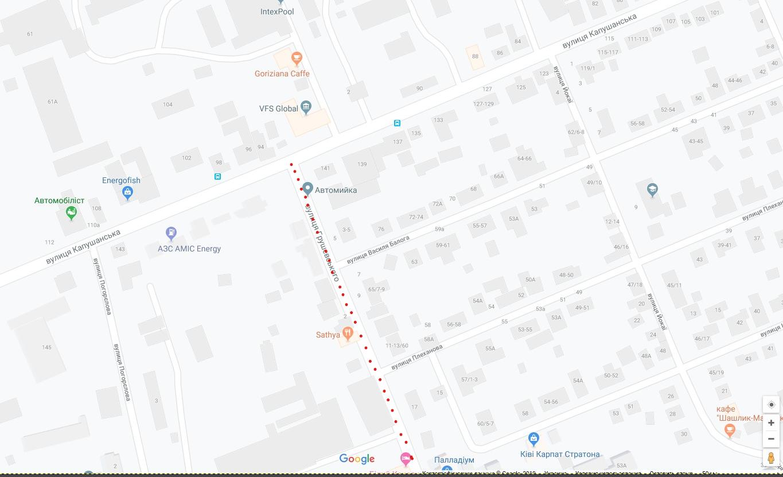 В Ужгороді перекрили вулицю Грушевського (СХЕМА), фото-1