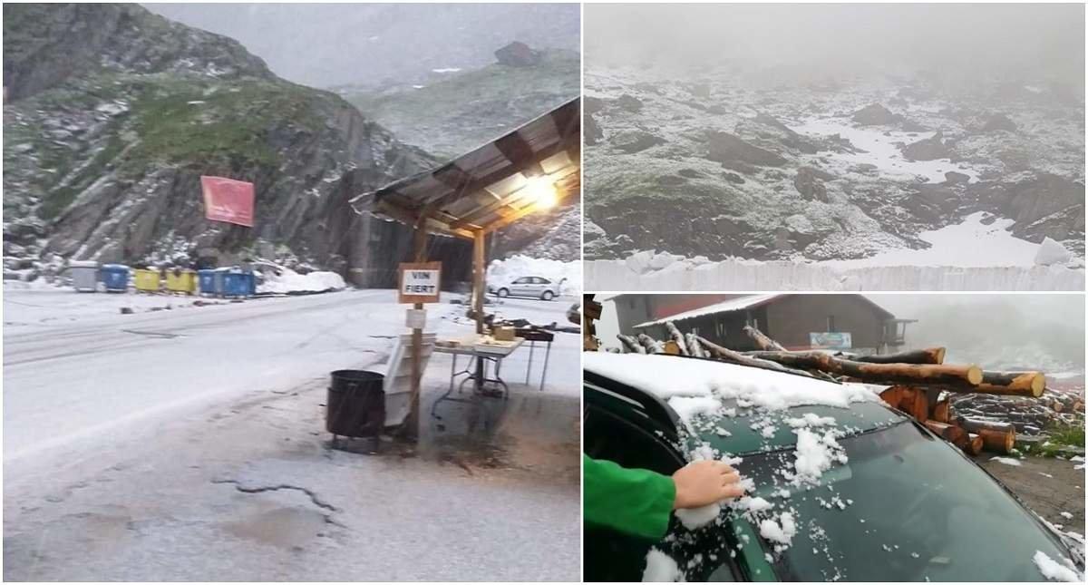 Холодний циклон приніс у румунські Карпати сніг (ФОТО, ВІДЕО), фото-1