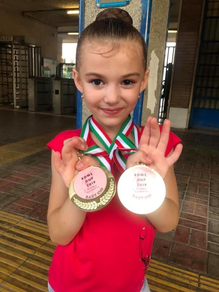 """Юні ужгородські гімнастки привезли три """"золота"""" із Риму (ФОТО), фото-3"""