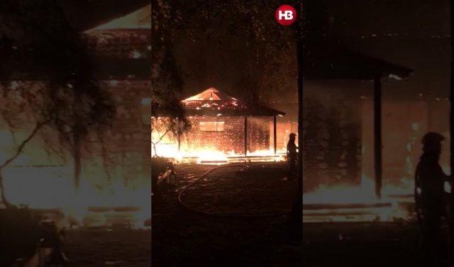 Невідомі спалили будинок ексглави НБУ Гонтаревої (ФОТО, ВІДЕО), фото-3