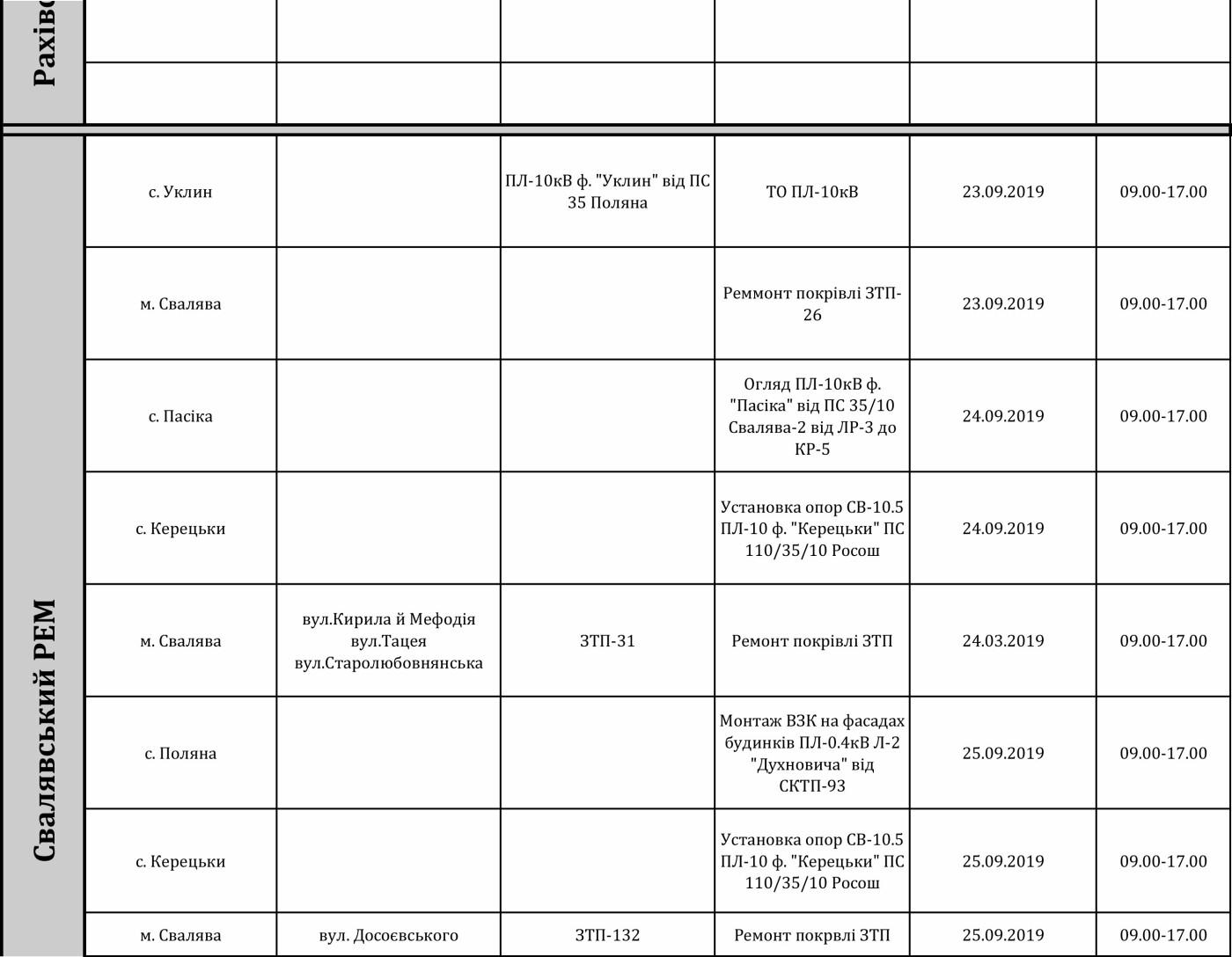 Графік відключення світла на Закарпатті з 23 по 27 вересня, фото-7