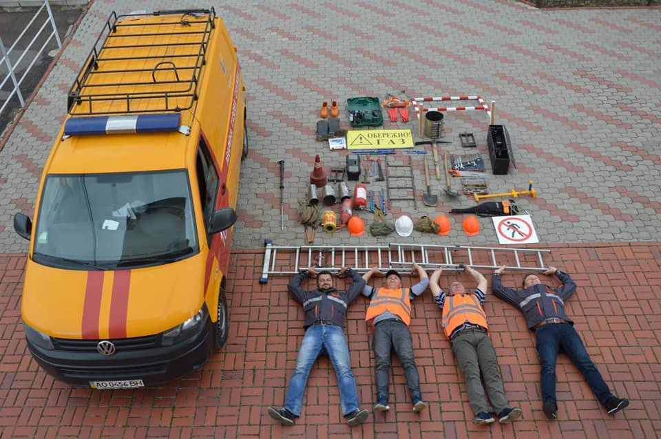 "Аварійники ""Закарпатгазу"" теж взяли участь у #tetrischallenge (ФОТО), фото-1"