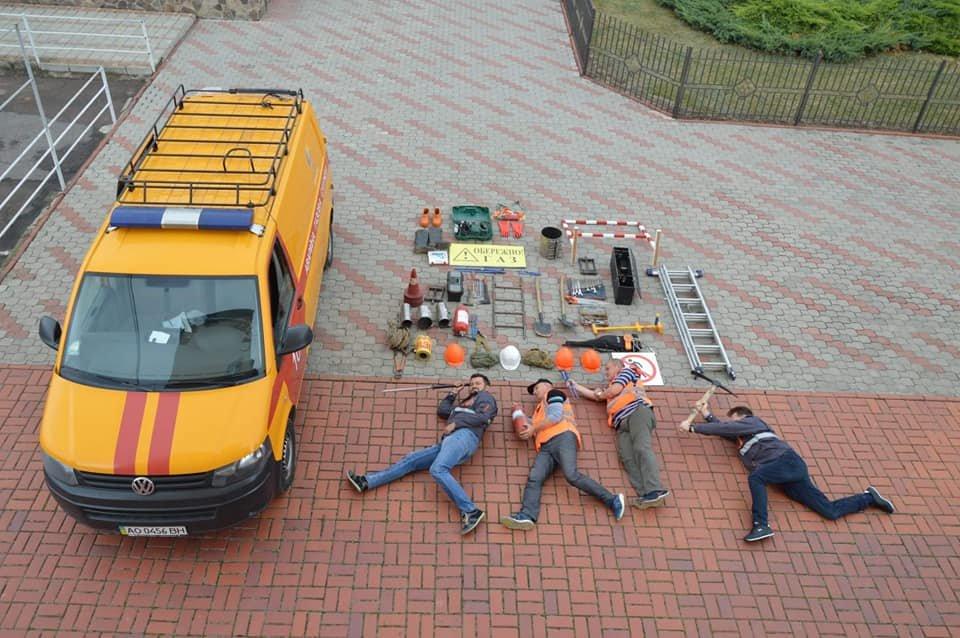 "Аварійники ""Закарпатгазу"" теж взяли участь у #tetrischallenge (ФОТО), фото-2"