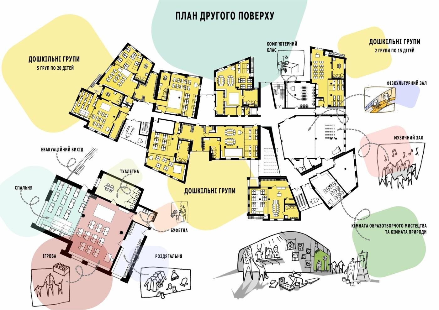 В Ужгороді з'явиться новий сучасний дитсадок на 250 місць (ФОТО, ПРОЕКТ), фото-5