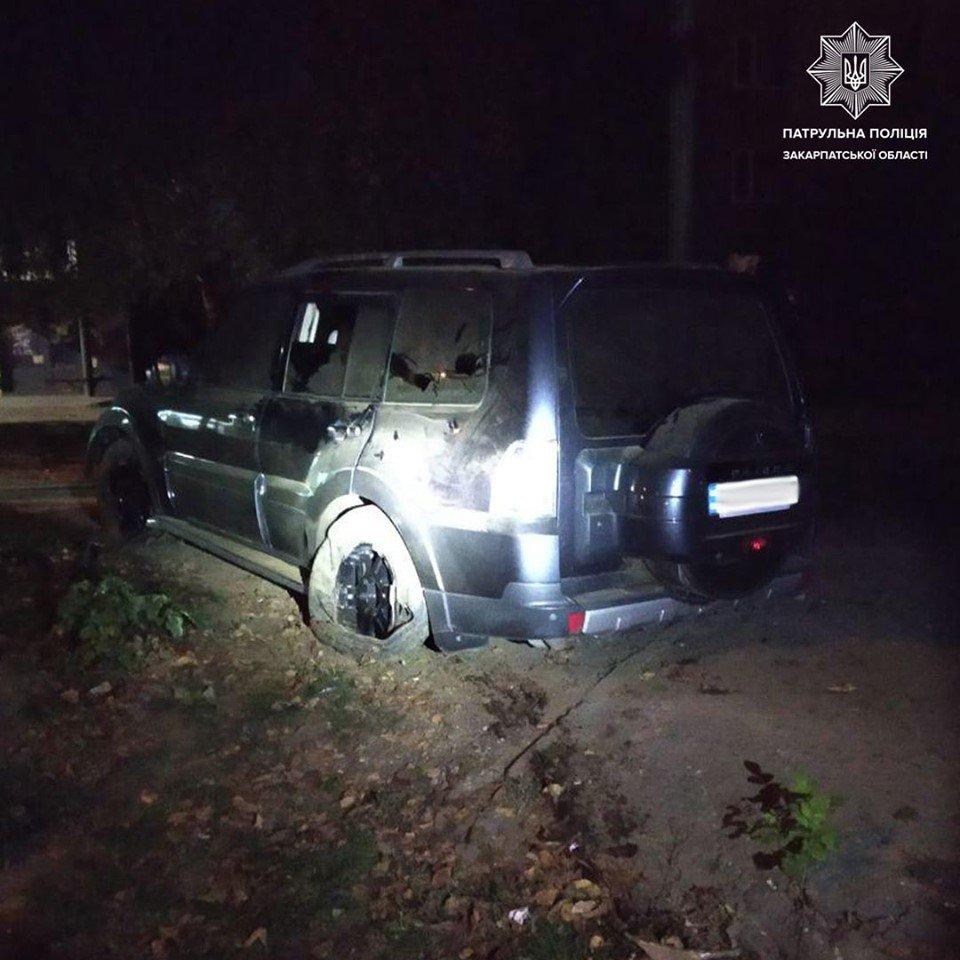 В Ужгороді нетверезий водій заїхав на клумбу (ФОТО), фото-2
