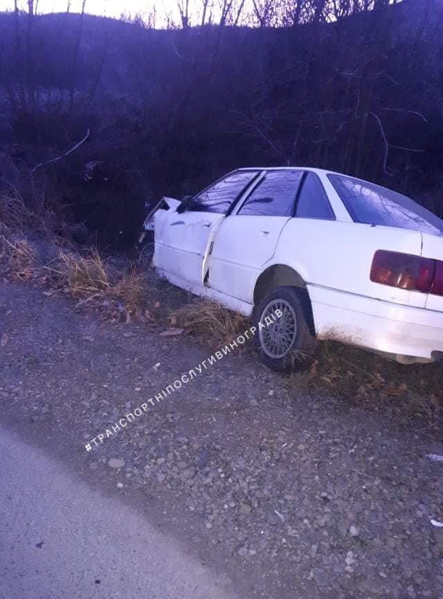 У Виноградові швидка забрала водія, який на AUDІ злетів у кювет. Чоловік помер у лікарні (ФОТО, ОНОВЛЕНО), фото-2