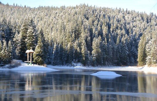 Неймовірний пейзаж: як виглядає озеро Синевир взимку, фото-4