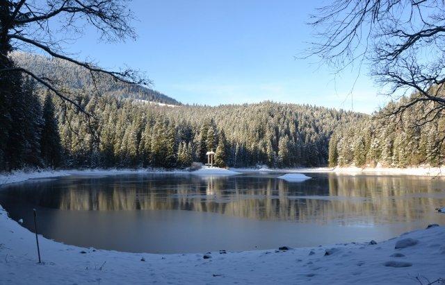 Неймовірний пейзаж: як виглядає озеро Синевир взимку, фото-6