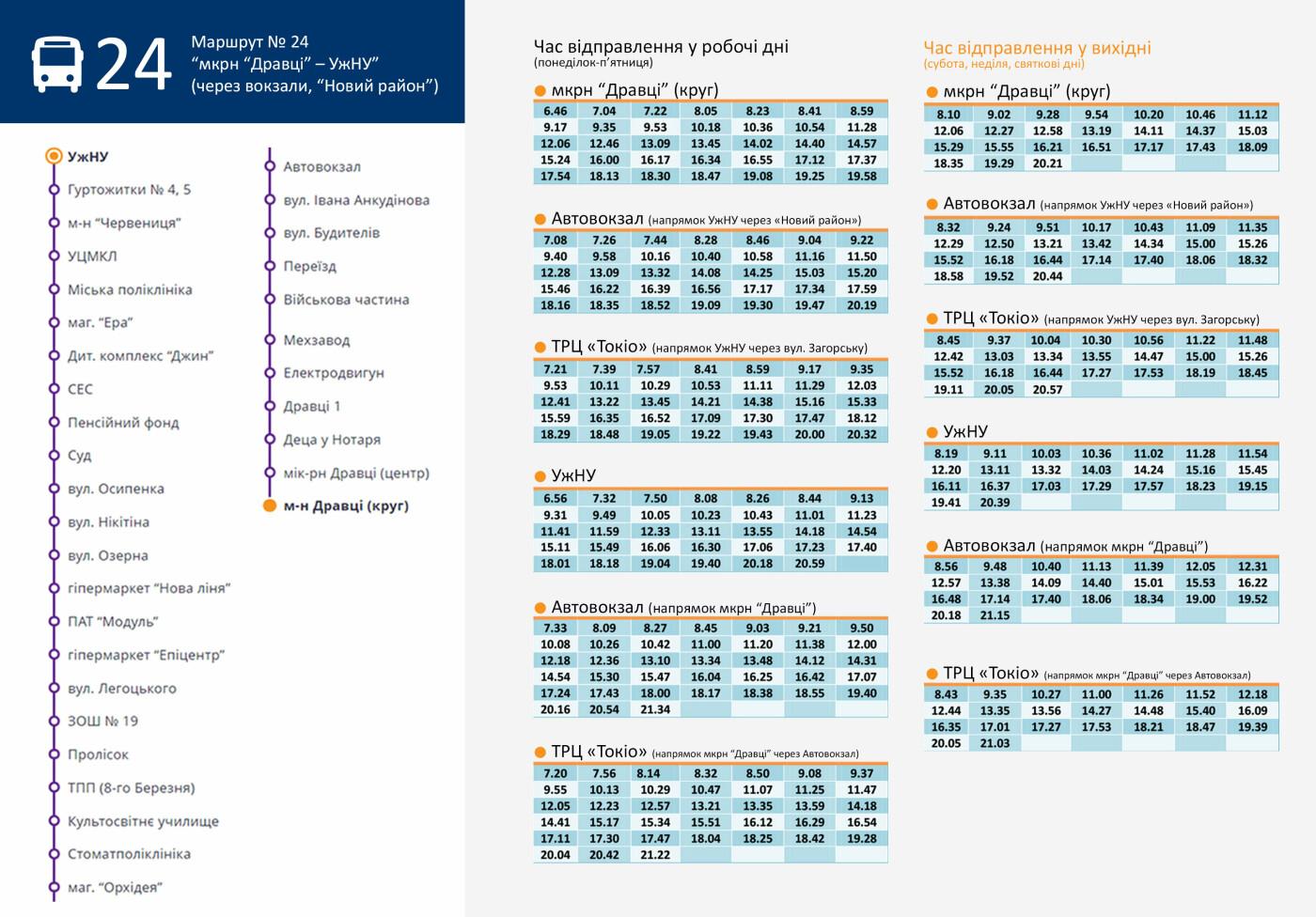 Врахували всі пропозиції містян: В Ужгороді змінився графік маршруту №24, фото-1