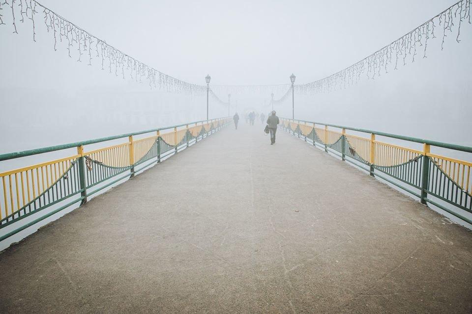 Фото дня: таємничий Ужгород у полоні туману, фото-3