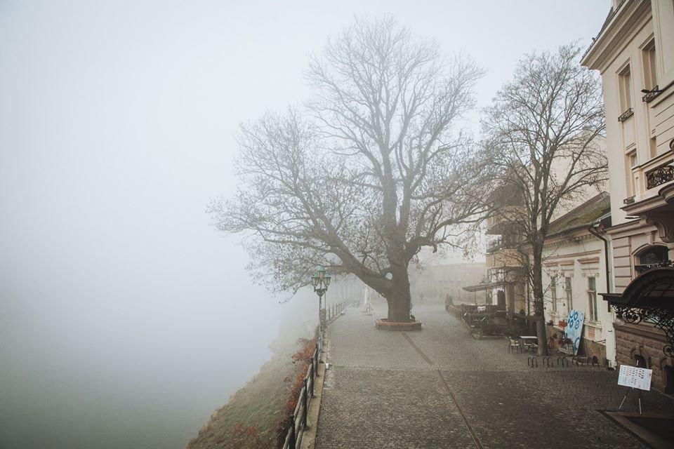 Фото дня: таємничий Ужгород у полоні туману, фото-1