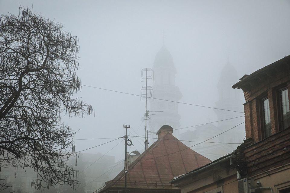 Фото дня: таємничий Ужгород у полоні туману, фото-10