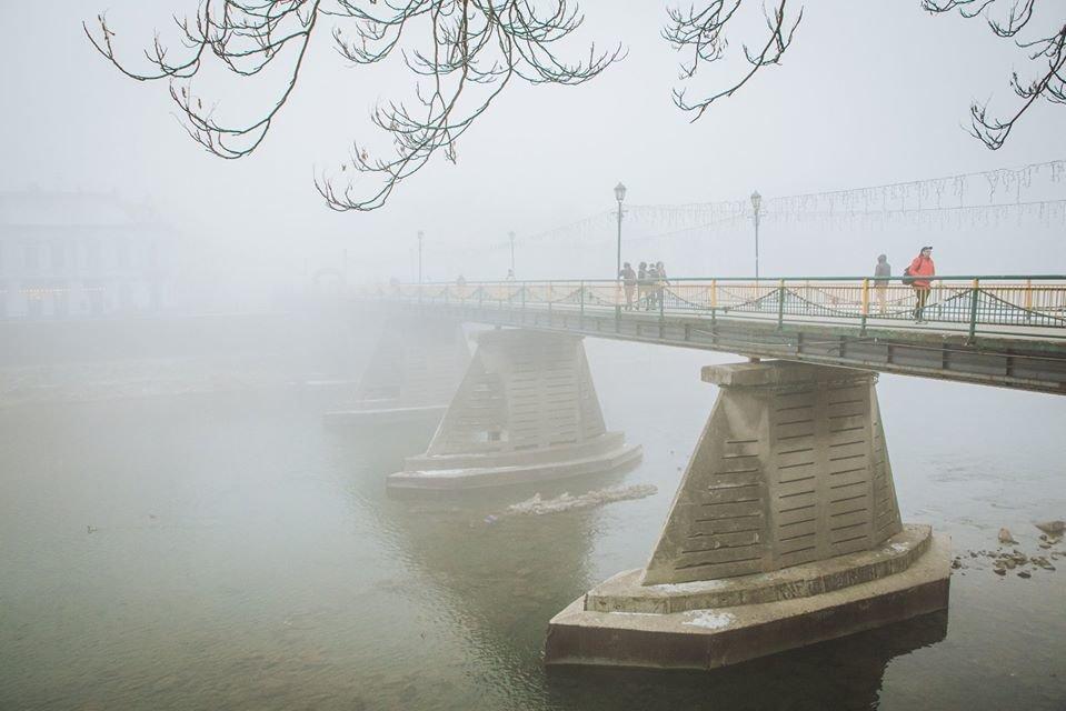 Фото дня: таємничий Ужгород у полоні туману, фото-2
