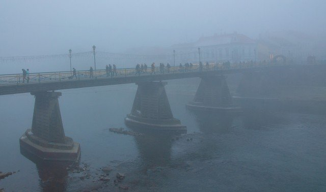 Фото дня: таємничий Ужгород у полоні туману, фото-15
