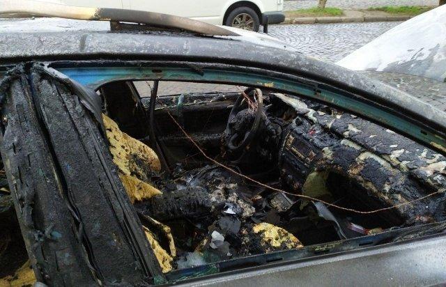 Родині закарпатця, який з кувалдою прийшов на розбірки у спортзал, спалили автомобіль (ФОТО), фото-1