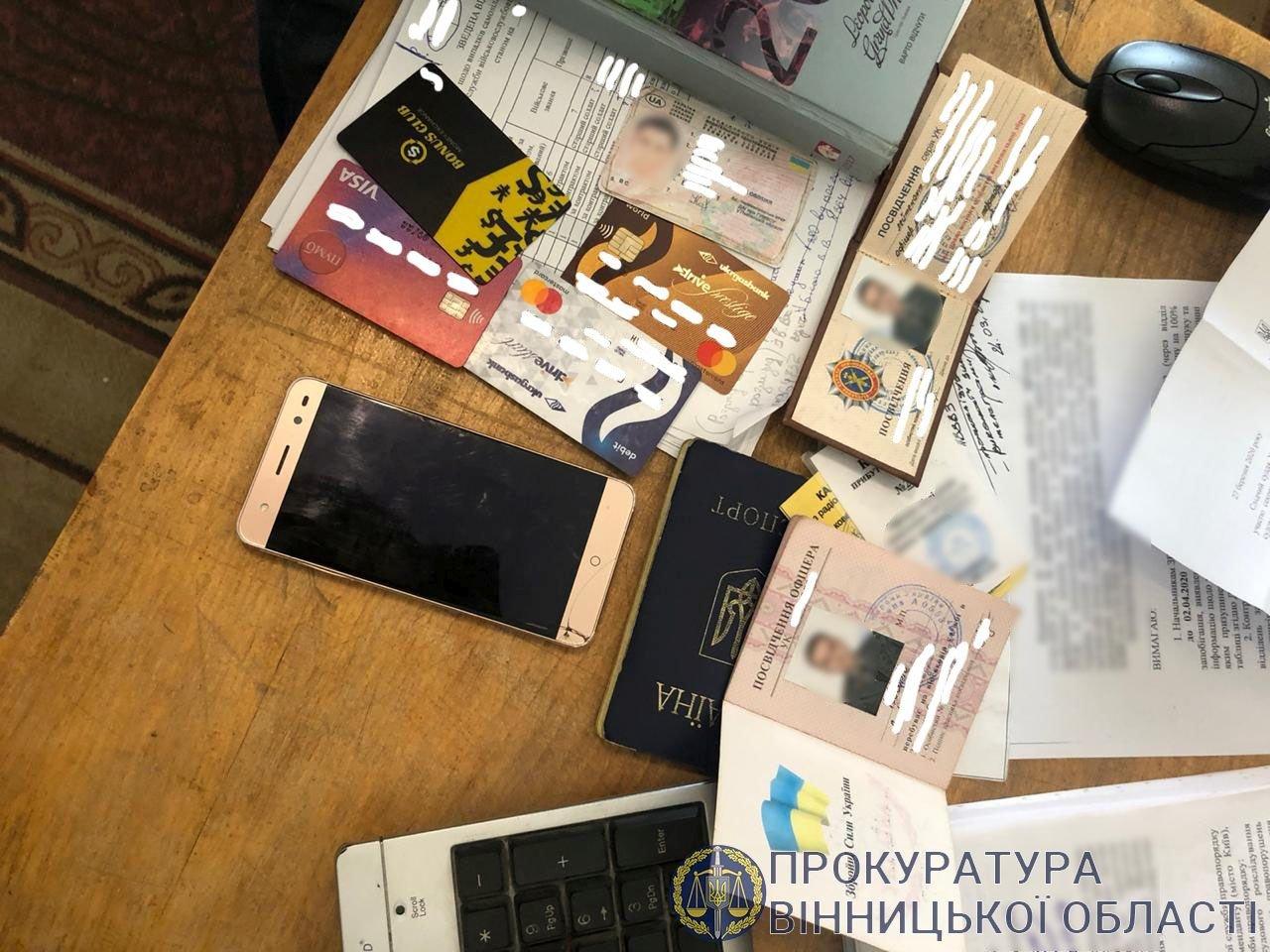 На Вінниччині затримали офіцера з Ужгорода: вимагав 84 тис грн хабара (ФОТО), фото-1