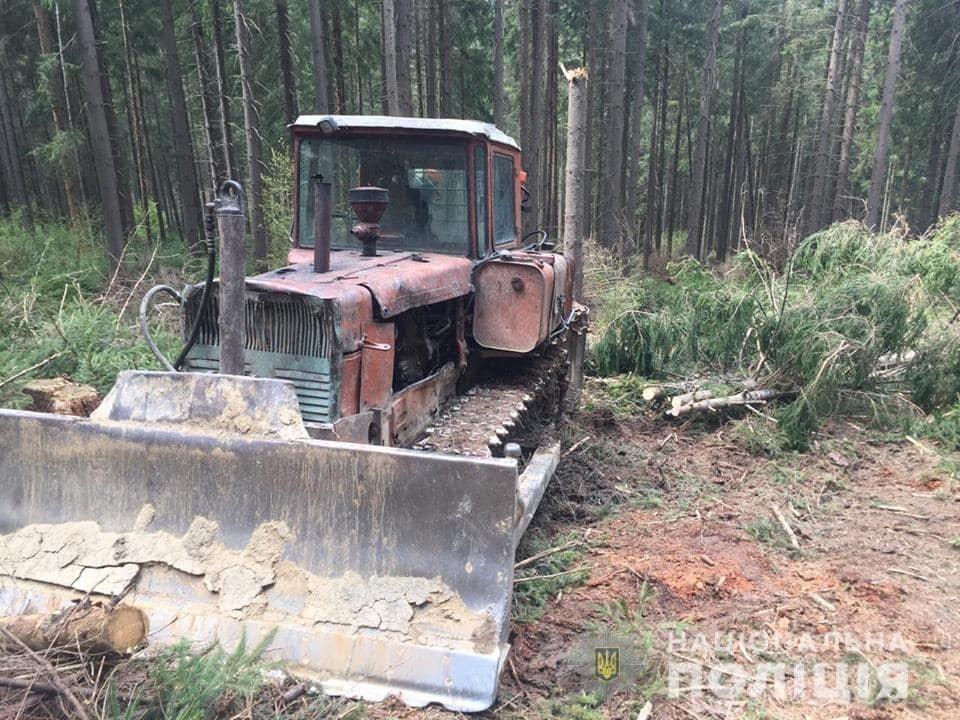 Вирубка лісу на Закарпатті: сотня селян заблокувала техніку лісорубів та викликала поліцію (ФОТО), фото-1