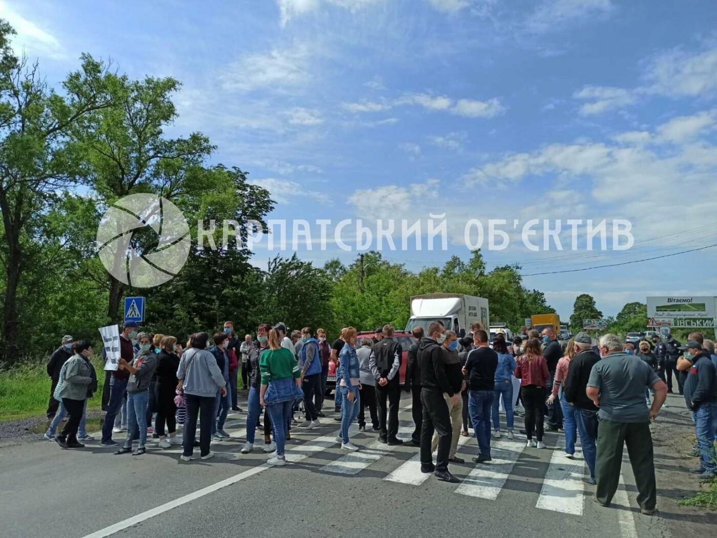 Закарпатці заблокували трасу державного значення Мукачево-Рогатин через об'єднання громади (ФОТО), фото-4